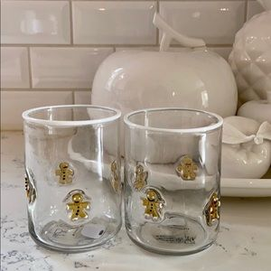 Anthropologie Jovie Gingerbread Juice Glasses